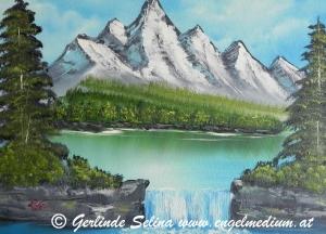 """Nr. 25 """"Gebirgssee Wasserfall"""""""